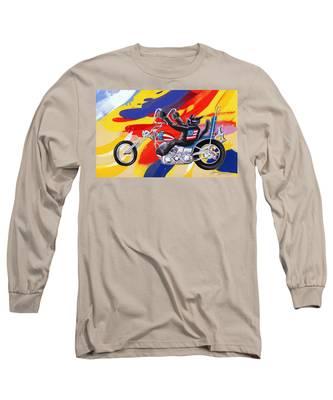 Biker Cat Long Sleeve T-Shirt