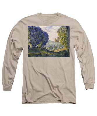 Bridlington Priory From Woldgate On The Hockney Trail Long Sleeve T-Shirt