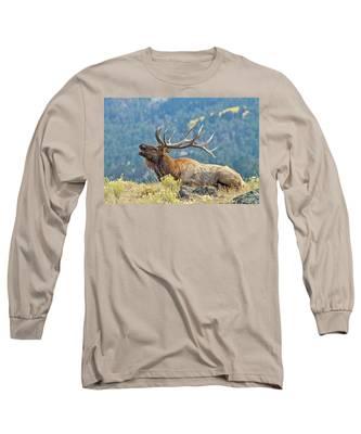 Bull Elk Bugling Long Sleeve T-Shirt