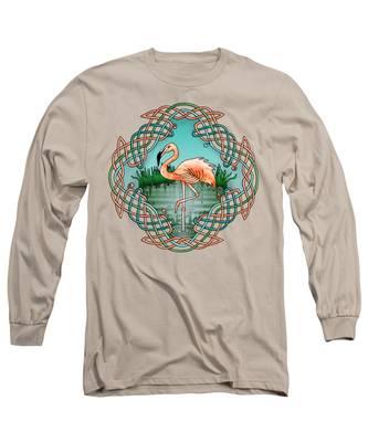 Celtic Flamingo Art Long Sleeve T-Shirt