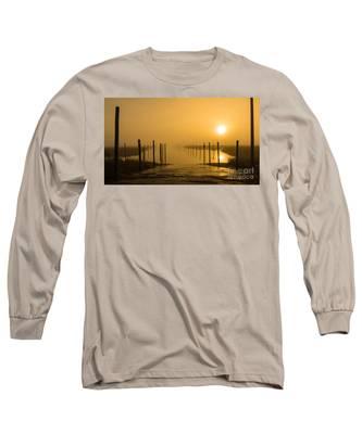 Golden Fog On The Nissequogue Long Sleeve T-Shirt