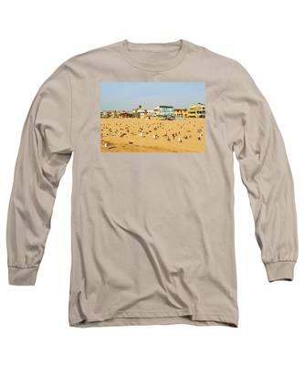 Gulls On Sand Long Sleeve T-Shirt