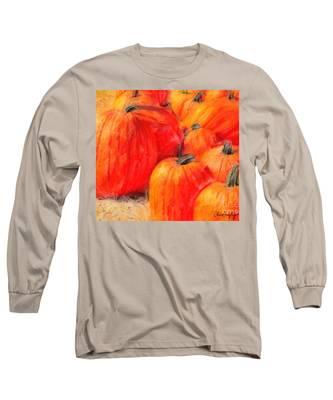 Painted Pumpkins Long Sleeve T-Shirt