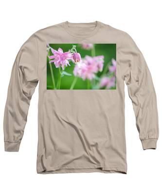 Pink Columbine Long Sleeve T-Shirt