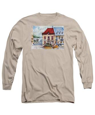 Quebec City Flower Boxes Long Sleeve T-Shirt