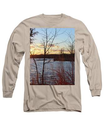 Sunset On The River Long Sleeve T-Shirt