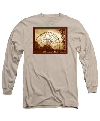 Texas Star In Gold Long Sleeve T-Shirt