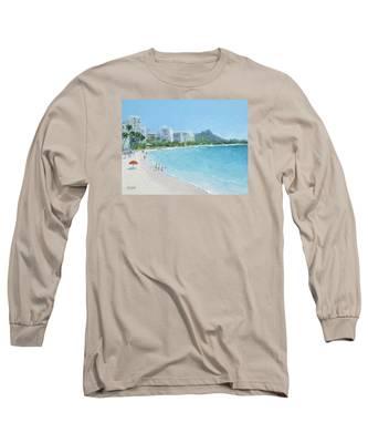 Waikiki Beach Honolulu Hawaii Long Sleeve T-Shirt