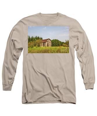 Weathered Barn Basking In The Summer Sun Long Sleeve T-Shirt