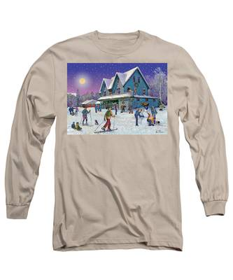 Winter In Campton Village Long Sleeve T-Shirt