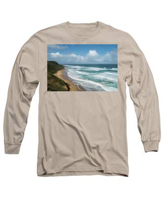 Australia Coastline Long Sleeve T-Shirt by Didier Marti