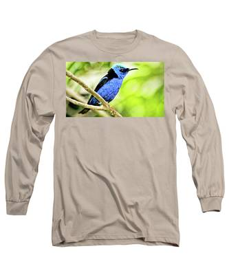 Red Legged Honeycreeper Long Sleeve T-Shirt