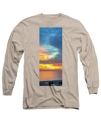 January Sunset - Vertirama Long Sleeve T-Shirt