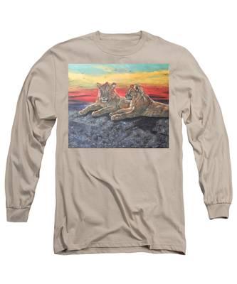 Lion Sunset Long Sleeve T-Shirt
