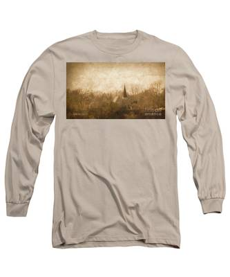 Old Church On A Hill  Long Sleeve T-Shirt