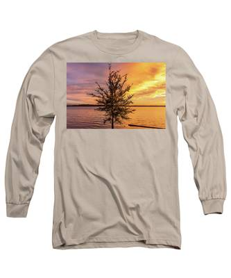 Percy Priest Lake Sunset Young Tree Long Sleeve T-Shirt