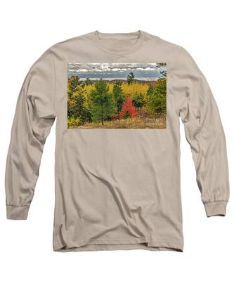 Vibrant Shades Of Red, Green, And Yellow Leaves Long Sleeve T-Shirt