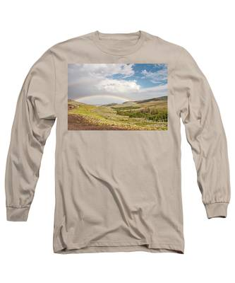 Wyoming Double Rainbow Long Sleeve T-Shirt