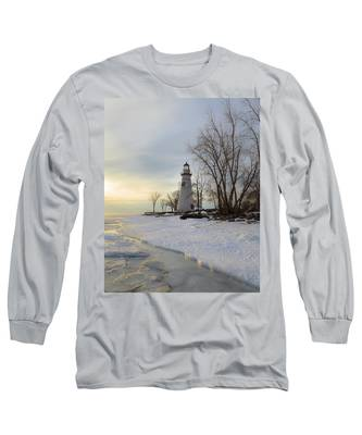 Marblehead Lighthouse Winter Sunrise Long Sleeve T-Shirt