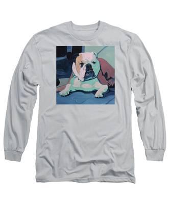A Bulldog In Love Long Sleeve T-Shirt