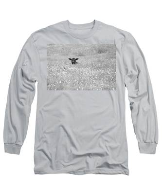 Buttercup In Black-and-white Long Sleeve T-Shirt