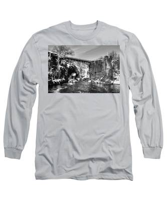 Great Falls In The Winter Long Sleeve T-Shirt
