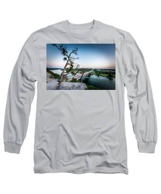 Pennybacker Bridge Austin Long Sleeve T-Shirt