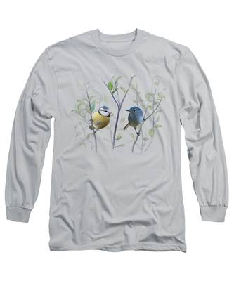 Birds In Tree Long Sleeve T-Shirt