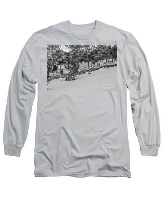 Boardwalk Climbing A Hill Long Sleeve T-Shirt