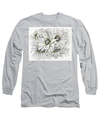 Sunflowers Pencil Long Sleeve T-Shirt