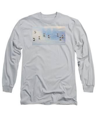 Flock Of Sanderlings Long Sleeve T-Shirt