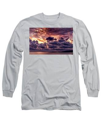 Gold, Orange And Lavender  Long Sleeve T-Shirt
