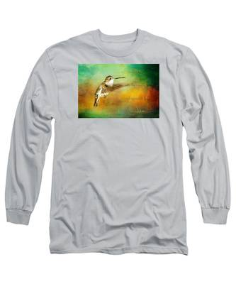 Hummingbird Hover Long Sleeve T-Shirt