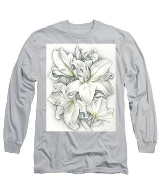 Lilies Pencil Long Sleeve T-Shirt