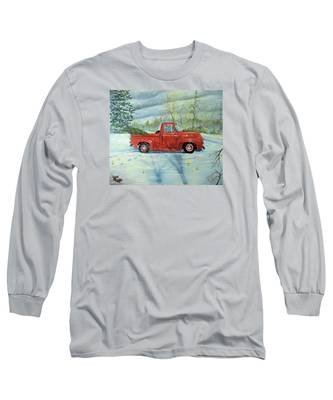 Picking Up The Christmas Tree Long Sleeve T-Shirt