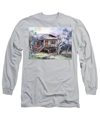 Queenslander Style House, Cloncurry. Long Sleeve T-Shirt