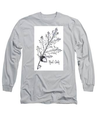Red Oak Leaf And Acorn Long Sleeve T-Shirt