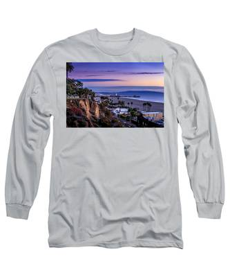 Sitting On The Fence - Santa Monica Pier Long Sleeve T-Shirt