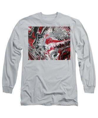 Long Sleeve T-Shirt featuring the painting Swirls by Vicki Winchester