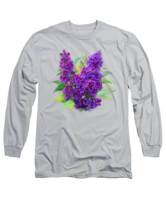 Watercolor Lilac Long Sleeve T-Shirt