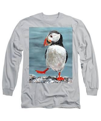 Dancing Puffin Long Sleeve T-Shirt