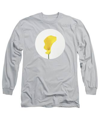 Yellow Lily Long Sleeve T-Shirts