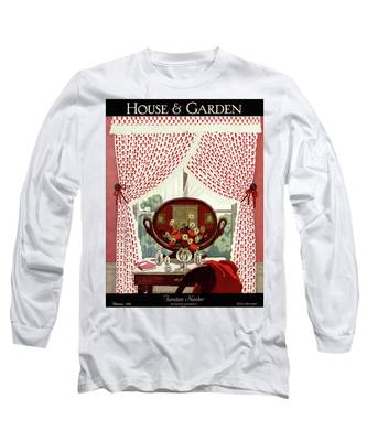 A House And Garden Cover Of A Mirror Long Sleeve T-Shirt