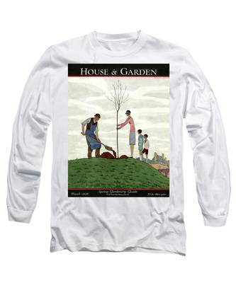 A House And Garden Cover Of People Planting Long Sleeve T-Shirt