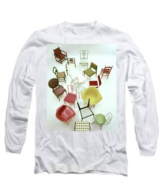 A Large Group Of Chairs Long Sleeve T-Shirt