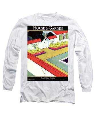 A Reflecting Pool And Garden Long Sleeve T-Shirt