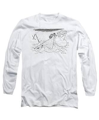 A Sailor Blows Up An Inflatable Island Long Sleeve T-Shirt