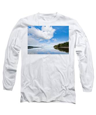Clouds Reflected In Puget Sound Long Sleeve T-Shirt