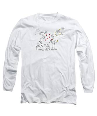 Cupid Valentines Long Sleeve T-Shirt