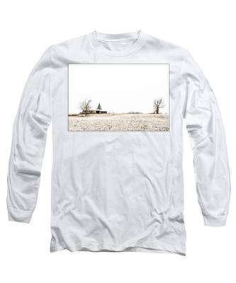 Ethereal Wintry Scene Long Sleeve T-Shirt